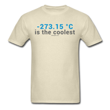 """-273.15 ºC is the Coolest"" (gray) - Men's T-Shirt khaki / S - LabRatGifts - 4"