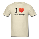 """I ♥ Microbiology"" (black) - Men's T-Shirt khaki / S - LabRatGifts - 4"