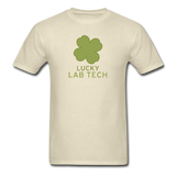 """Lucky Lab Tech"" - Men's T-Shirt khaki / S - LabRatGifts - 10"