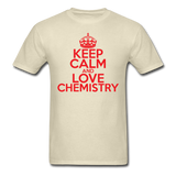 """Keep Calm and Love Chemistry"" (red) - Men's T-Shirt khaki / S - LabRatGifts - 4"