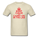 """Keep Calm and Carry On in the Lab"" (red) - Men's T-Shirt khaki / S - LabRatGifts - 4"