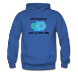 """Be Positive"" (black) - Men's Sweatshirt royal blue / S - LabRatGifts - 6"