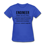 """Engineer"" (black) - Women's T-Shirt royal blue / S - LabRatGifts - 9"