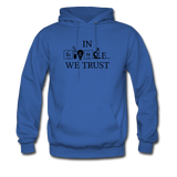 """In Science We Trust"" (black) - Men's Sweatshirt royal blue / S - LabRatGifts - 5"