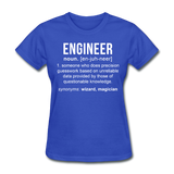 """Engineer"" (white) - Women's T-Shirt royal blue / S - LabRatGifts - 9"