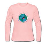 """Save the Planet"" - Women's Long Sleeve T-Shirt light pink / S - LabRatGifts - 4"