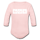 """BaCoN"" - Baby Long Sleeve One Piece light pink / 6 months - LabRatGifts - 2"