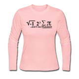 """I Ate Some Pie"" (black) - Women's Long Sleeve T-Shirt light pink / S - LabRatGifts - 3"