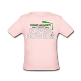 """Forget Lab Safety"" - Baby Lap Shoulder T-Shirt light pink / Newborn - LabRatGifts - 4"