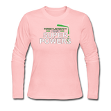 """Forget Lab Safety"" - Women's Long Sleeve T-Shirt light pink / S - LabRatGifts - 1"