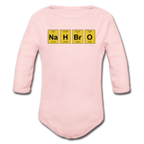 """NaH BrO"" - Baby Long Sleeve One Piece light pink / 6 months - LabRatGifts - 3"