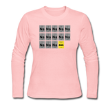 """Na Na Na Batmanium"" - Women's Long Sleeve T-Shirt light pink / S - LabRatGifts - 4"