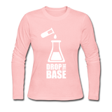 """Drop the Base"" - Women's Long Sleeve T-Shirt light pink / S - LabRatGifts - 2"