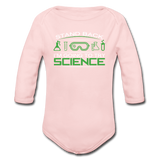 """Stand Back"" - Baby Long Sleeve One Piece light pink / 6 months - LabRatGifts - 2"
