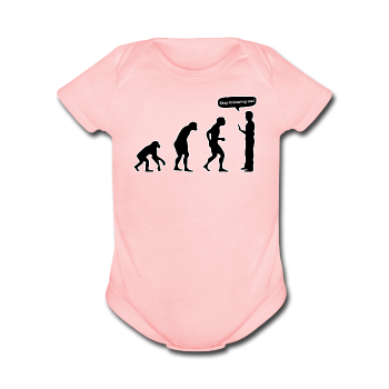 """Stop Following Me"" - Baby Short Sleeve One Piece light pink / Newborn - LabRatGifts - 1"