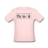"""ThInK"" (black) - Baby Lap Shoulder T-Shirt light pink / Newborn - LabRatGifts - 1"