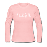 """I Ate Some Pie"" (white) - Women's Long Sleeve T-Shirt light pink / S - LabRatGifts - 3"