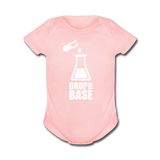 """Drop the Base"" - Baby Short Sleeve One Piece light pink / Newborn - LabRatGifts - 3"