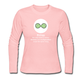 """Biology Division"" - Women's Long Sleeve T-Shirt light pink / S - LabRatGifts - 3"