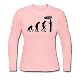 """Stop Following Me"" - Women's Long Sleeve T-Shirt light pink / S - LabRatGifts - 1"