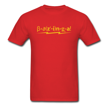 """Bazinga!"" - Men's T-Shirt red / S - LabRatGifts - 1"