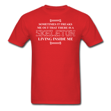 """Skeleton Inside Me"" - Men's T-Shirt red / S - LabRatGifts - 8"