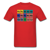 """Lady Gaga Periodic Table"" - Men's T-Shirt red / S - LabRatGifts - 9"
