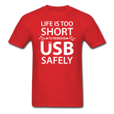 """Life is too Short"" (white) - Men's T-Shirt red / S - LabRatGifts - 9"
