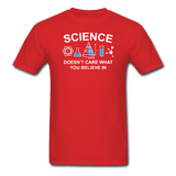 """Science Doesn't Care"" - Men's T-Shirt red / S - LabRatGifts - 8"
