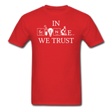 """In Science We Trust"" (white) - Men's T-Shirt red / S - LabRatGifts - 8"