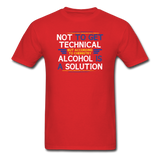 """Technically Alcohol is a Solution"" - Men's T-Shirt red / S - LabRatGifts - 7"