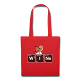 """WINe Periodic Table"" - Tote Bag red / One size - LabRatGifts - 5"