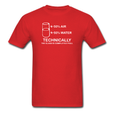 """Technically the Glass is Full"" - Men's T-Shirt red / S - LabRatGifts - 7"