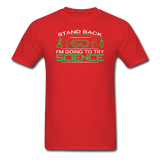 """Stand Back"" - Men's T-Shirt red / S - LabRatGifts - 8"