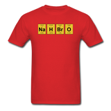 """NaH BrO"" - Men's T-Shirt red / S - LabRatGifts - 9"