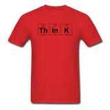 """ThInK"" (black) - Men's T-Shirt red / S - LabRatGifts - 7"
