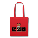"""BaCoN Periodic Table"" - Tote Bag red / One size - LabRatGifts - 5"