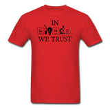 """In Science We Trust"" (black) - Men's T-Shirt red / S - LabRatGifts - 9"