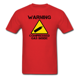 """Warning Compressed Gas Inside"" - Men's T-Shirt red / S - LabRatGifts - 6"