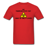 """My Radioactive Cat has 18 Half-Lives"" - Men's T-Shirt red / S - LabRatGifts - 5"