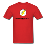 """Faster Than 186,282 MPS"" - Men's T-Shirt red / S - LabRatGifts - 1"