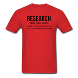 """Research"" (black) - Men's T-Shirt red / S - LabRatGifts - 11"