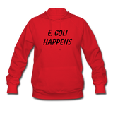 """E. Coli Happens"" (black) - Women's Sweatshirt red / S - LabRatGifts - 4"
