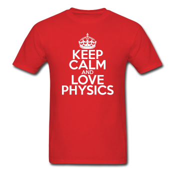"""Keep Calm and Love Physics"" (white) - Men's T-Shirt red / S - LabRatGifts - 1"