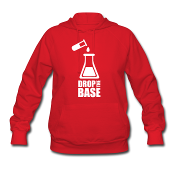 """Drop the Base"" - Women's Sweatshirt red / S - LabRatGifts - 1"