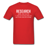 """Research"" (white) - Men's T-Shirt red / S - LabRatGifts - 10"