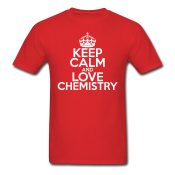 """Keep Calm and Love Chemistry"" (white) - Men's T-Shirt red / S - LabRatGifts - 1"