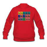 """Lady Gaga Periodic Table"" - Women's Sweatshirt red / S - LabRatGifts - 4"