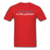 """-273.15 ºC is the Coolest"" (white) - Men's T-Shirt red / S - LabRatGifts - 6"