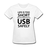 """Life is too Short"" (black) - Women's T-Shirt white / S - LabRatGifts - 11"